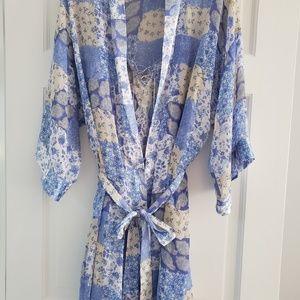 Chemise and Robe Set